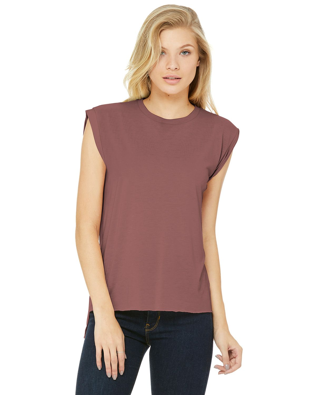 Bella + Canvas BC8804 Women's Flowy Muscle Tee - Mauve - S from Bella + Canvas