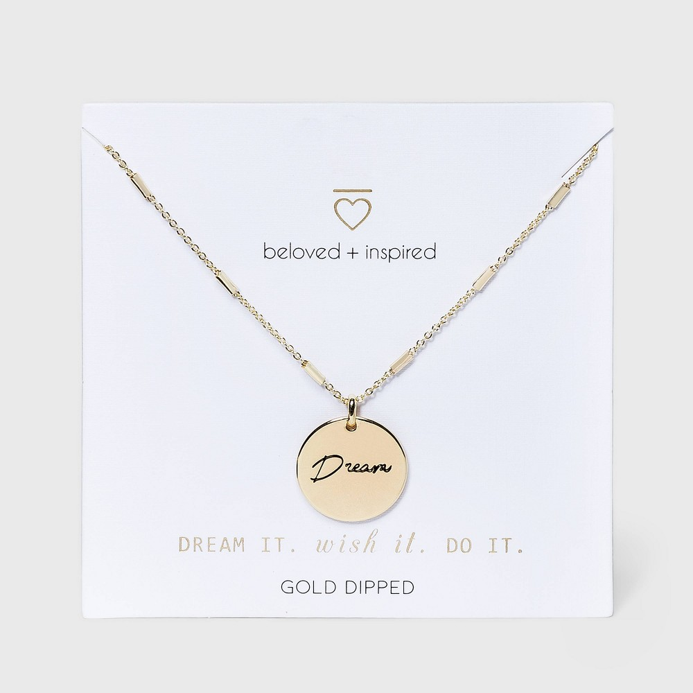 Beloved + Inspired Gold 'Dream' Disc Necklace - Gold from Beloved + Inspired