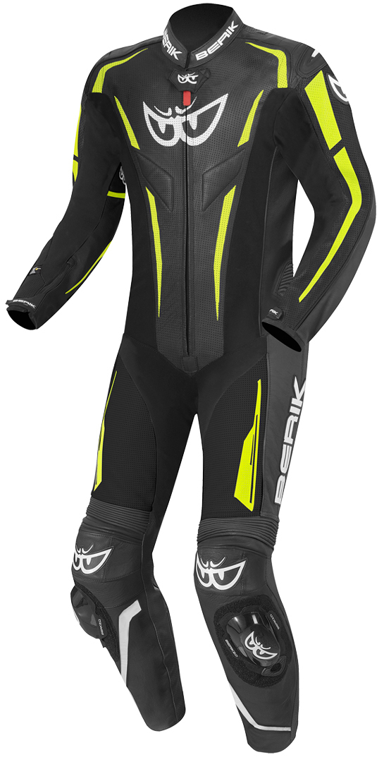 Berik RSF-Teck One Piece Motorcycle Leather Suit, black-yellow, Size 50, black-yellow, Size 50 from Berik
