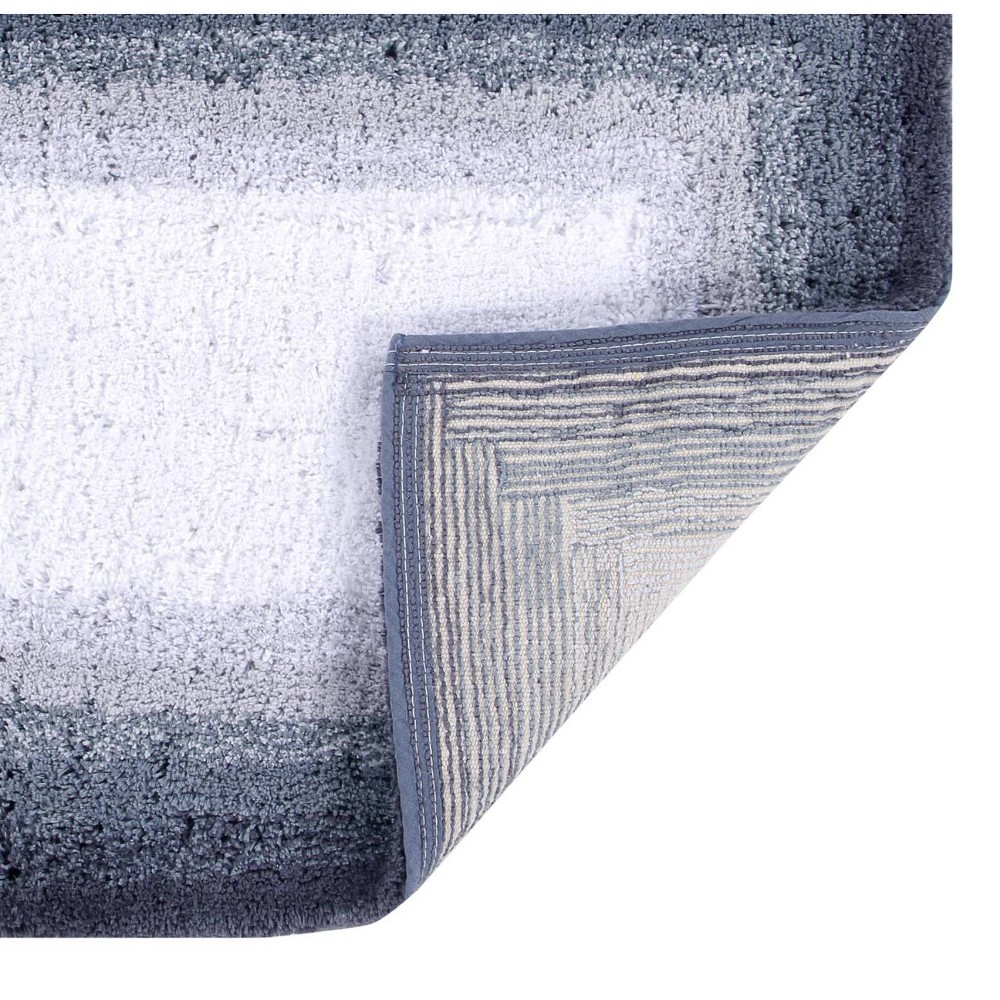 "17""x24"" Torrent Collection 100% Cotton Bath Rug Gray - Better Trends from Better Trends"