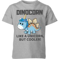 Big And Beautiful Dinocorn Kids' T-Shirt - Grey - 5-6 Years - Grey from Big And Beautiful