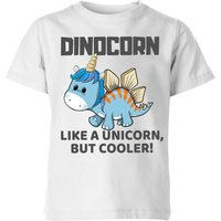 Big and Beautiful Dinocorn Kids' T-Shirt - White - 11-12 Years - White from Big And Beautiful