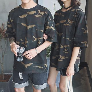 Camouflage Short-Sleeve Couple Matching T-Shirt from Bjorn