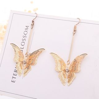 Alloy Butterfly Dangle Earring from Bling Thing