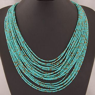 Bead Layered Necklace from Bling Thing