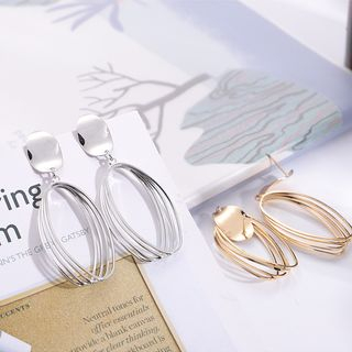 Copper Layered Hoop Earring from Bling Thing