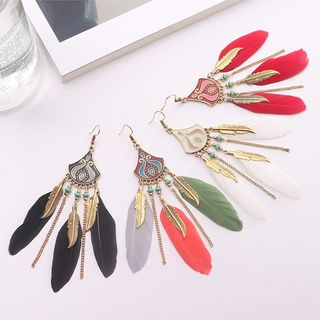 Feather Dangle Earring from Bling Thing