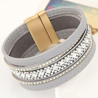 Layered Rhinestone Bracelet from Bling Thing