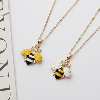 Rhinestone Bee Pendant Necklace from Bling Thing