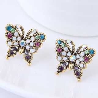 Rhinestone Butterfly Earring from Bling Thing