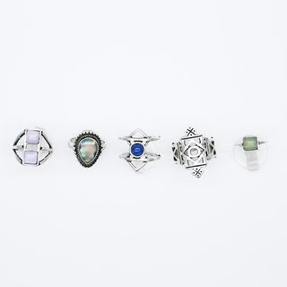 Ring Set of 5 from Bling Thing