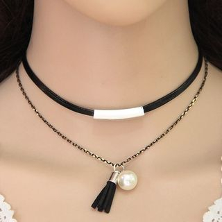 Tasseled Layered Choker from Bling Thing