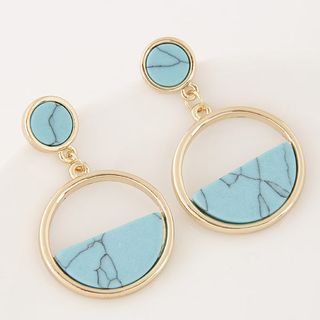 Turquoise Hoop Earring from Bling Thing