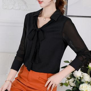 Bow Accent Blouse from Bornite