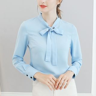 Bow Long-Sleeve Blouse from Bornite