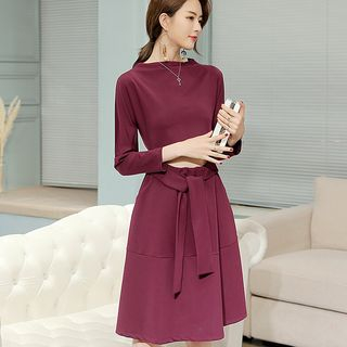 Cut Out Long-Sleeve A-Line Dress from Bornite