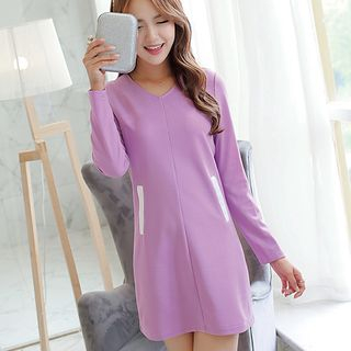 Long-Sleeve Shift Dress from Bornite