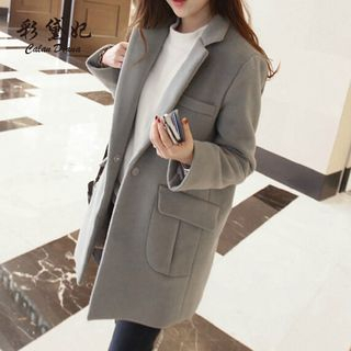 Notch Lapel Single-Button Coat from Bornite