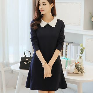 Peter Pan Collar Long-Sleeve Dress from Bornite