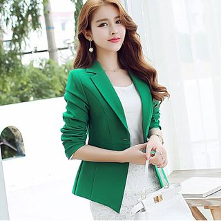 Plain Single Button Blazer from Bornite