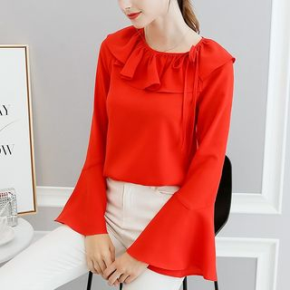Ruffled Bell-Sleeve Blouse from Bornite