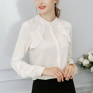 Ruffled Long-Sleeve Blouse from Bornite