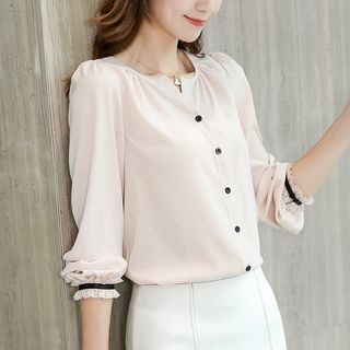 V-Neck Chiffon Blouse from Bornite