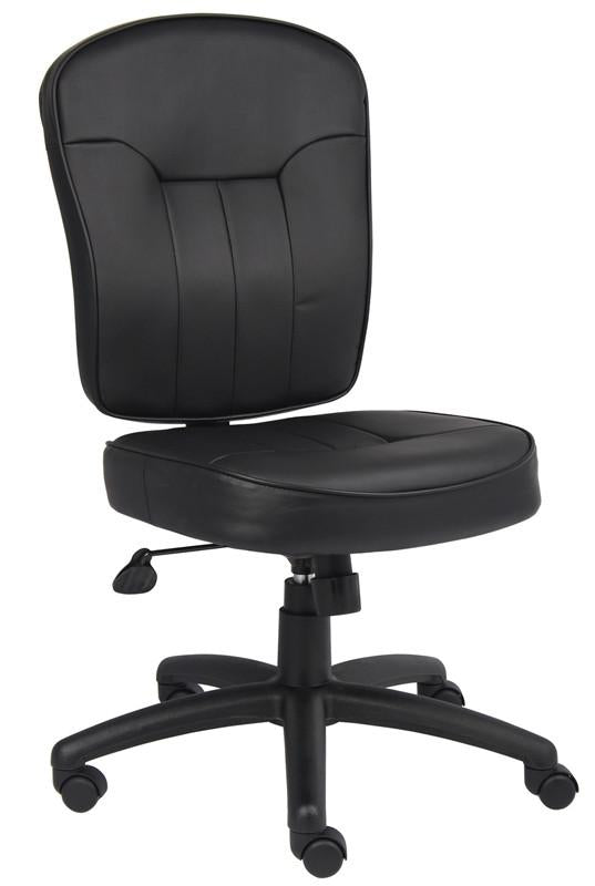 Boss Office Products B1560 Boss Black Leather Task Chair from Boss Office Products