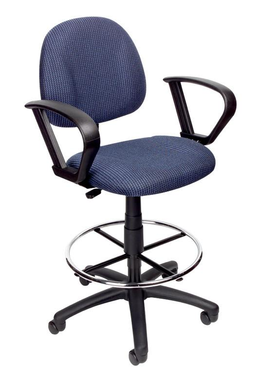 Boss Office Products B1617-BE Boss Drafting Stool (B315-Be) W/Footring And Loop Arms from Boss Office Products