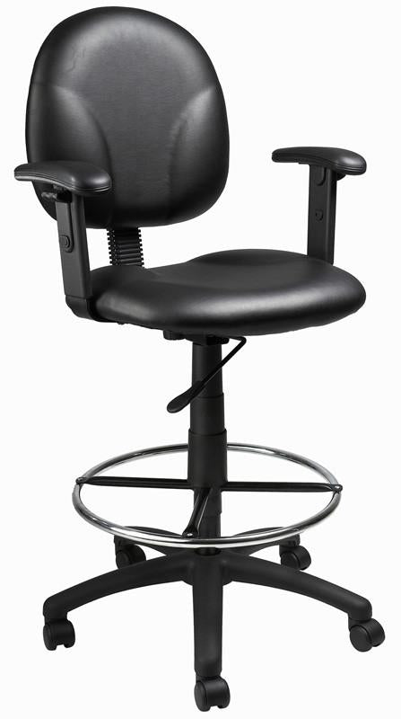 Boss Office Products B1691-CS Boss Black Caressoft Drafting Stools W/Adj Arms & Footring from Boss Office Products