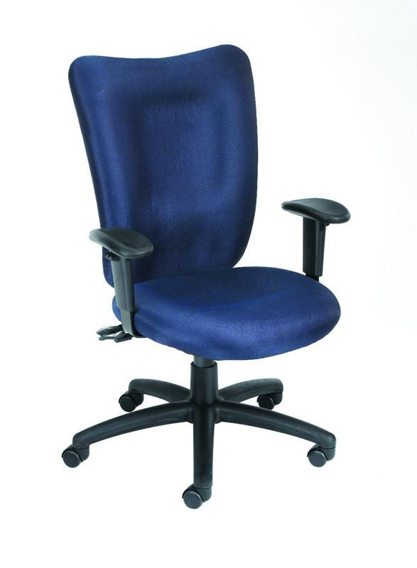 Boss Office Products B2007-BE Boss Blue Task Chair With 3 Paddle Mechanism from Boss Office Products