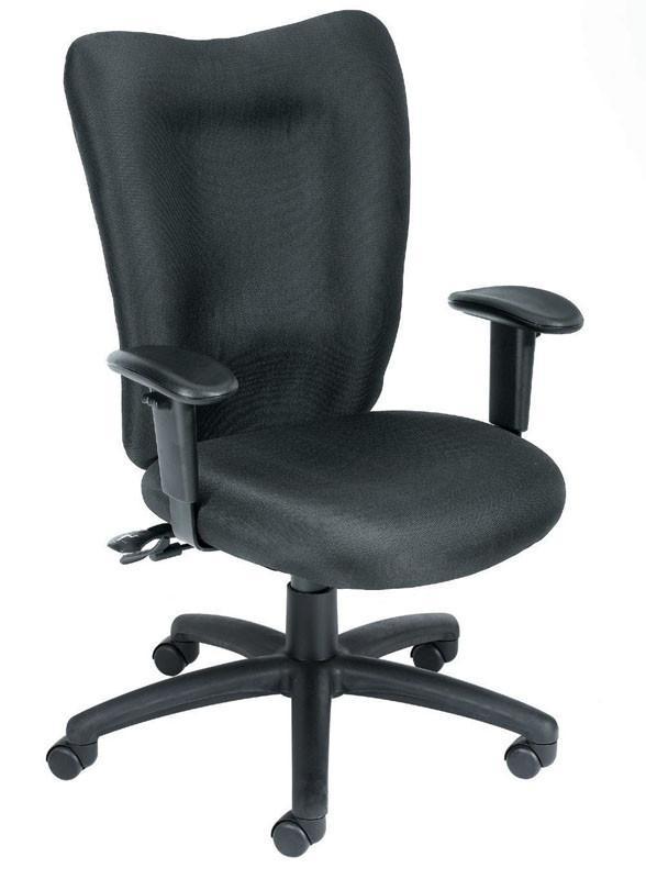 Boss Office Products B2007-SS-BK Boss Black Task Chair With 3 Paddle Mechanism W/ Seat Slider from Boss Office Products