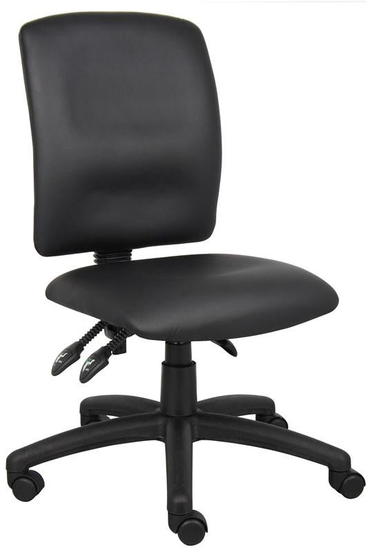 Boss Office Products B3045 Boss Multi-Function Fabric Leatherplus Task Chair from Boss Office Products