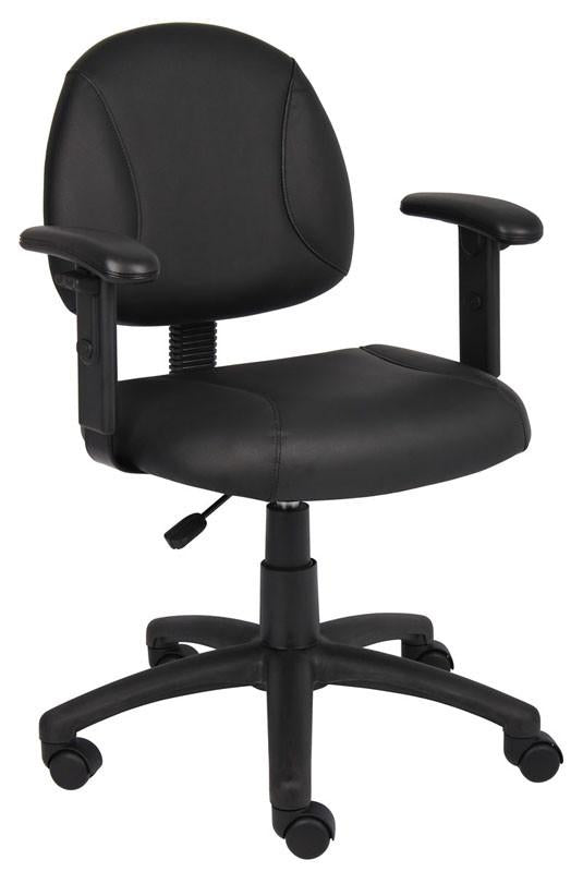 Boss Office Products B306 Boss Black Posture Chair W/ Adjustable Arms from Boss Office Products