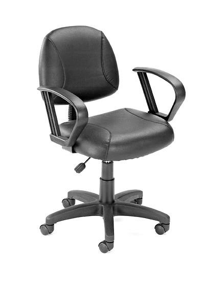 Boss Office Products B307 Boss Black Posture Chair W/ Loop Arms from Boss Office Products