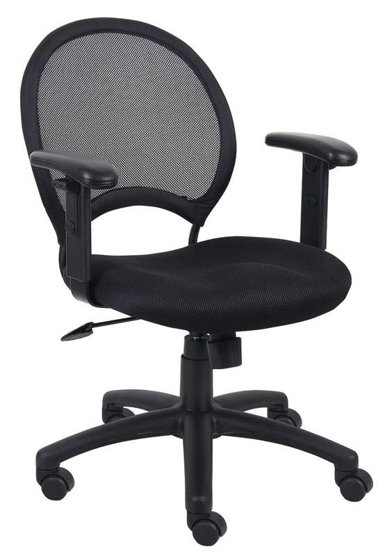 Boss Office Products B6216 Boss Mesh Chair With Adjustable Arms from Boss Office Products