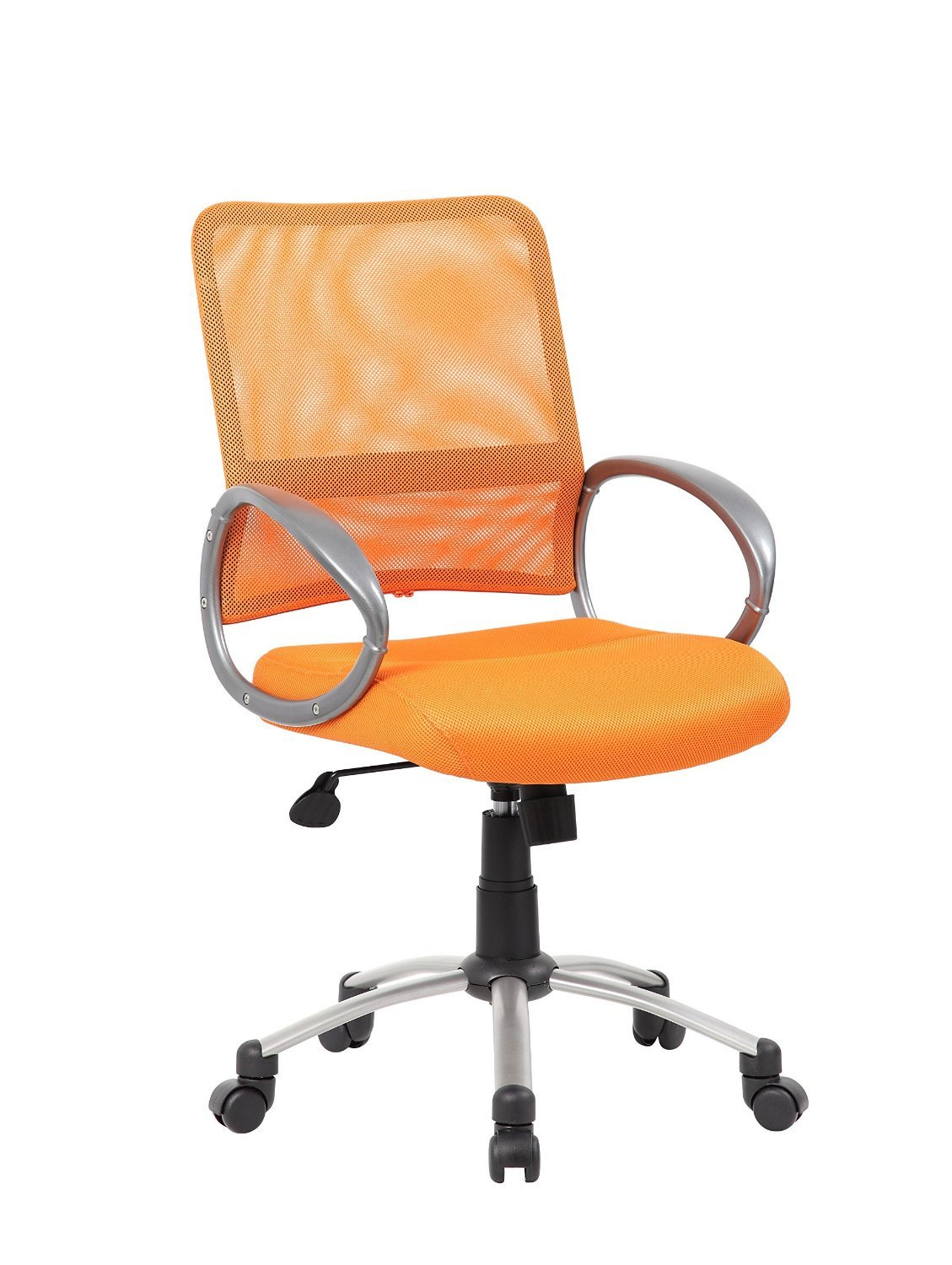 Boss Office Products B6419-OR Boss Mesh Back W/ Pewter Finish Guest Chair from Boss Office Products