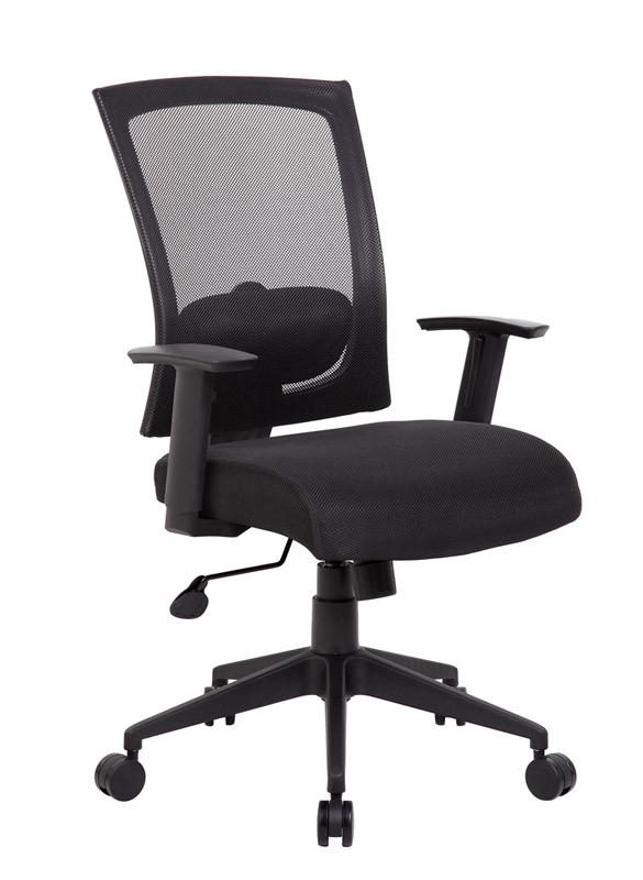 Boss Office Products B6706-BK Boss Mesh Back Task Chair from Boss Office Products