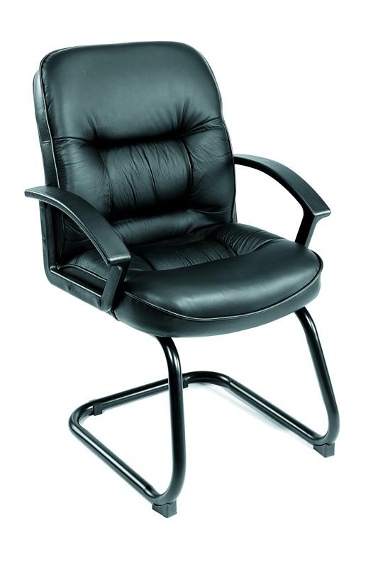 Boss Office Products B7309 Boss Mid Back Leatherplus Guest Chair from Boss Office Products