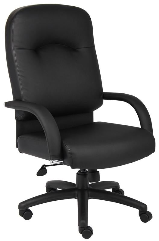 Boss Office Products B7401 Boss High Back Caressoft Chair In Black from Boss Office Products