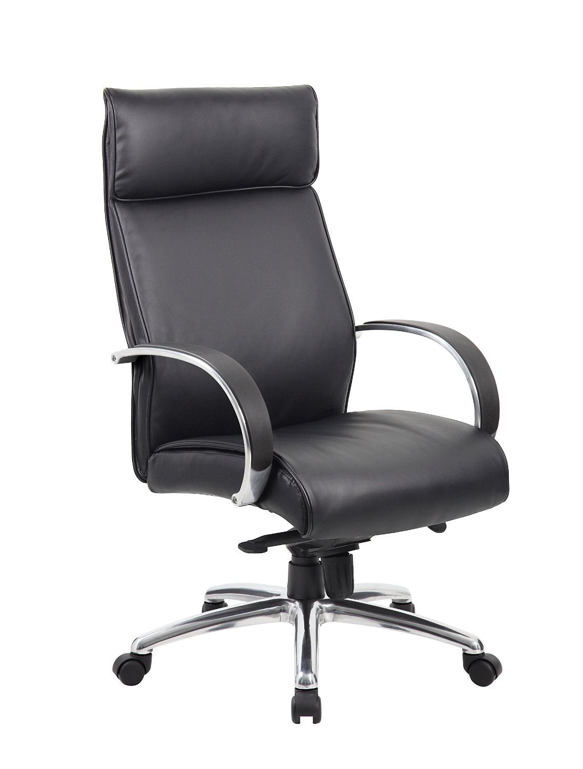 Boss Office Products B7712-BK Boss High Back Executive Chair / Black Finish / Black Upholstery / Knee Tilt from Boss Office Products