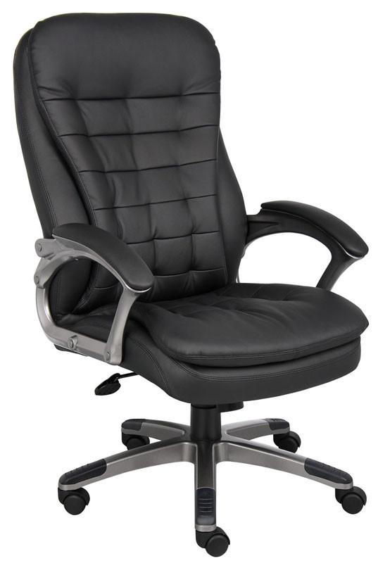 Boss Office Products B9331 Boss High Back Executive Chair With Pewter Finished Base/Arms from Boss Office Products