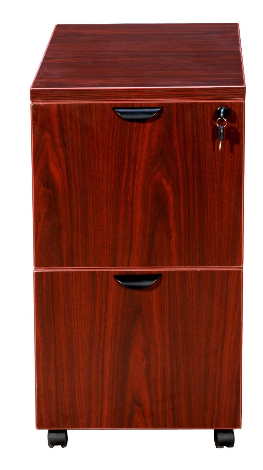 Boss Office Products N149-M Boss Mobile Pedestal, File/File Mahogany 16*22*29.5H from Boss Office Products