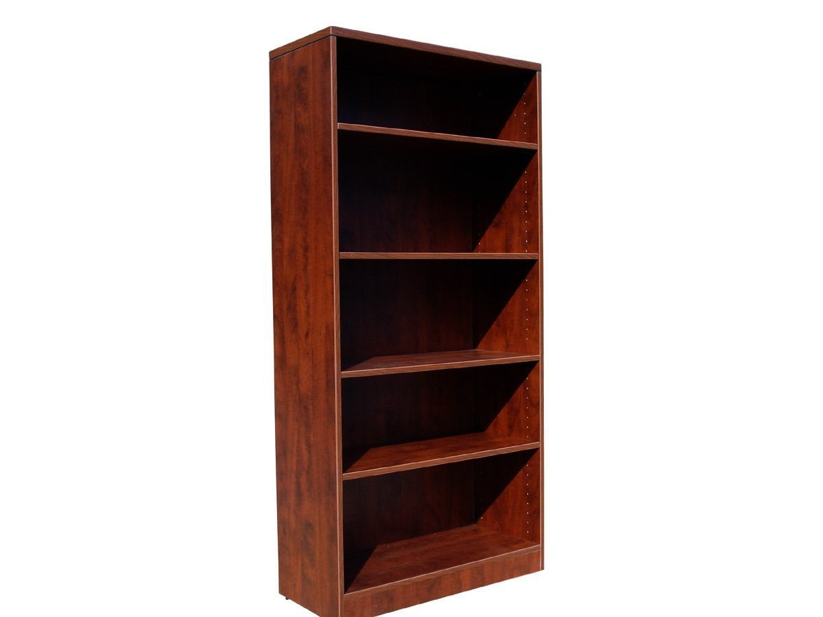 Boss Office Products N158-M Boss Bookcase, 31W X14D X 65.5H Mahogany from Boss Office Products