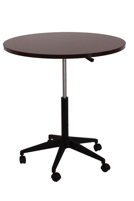 "Boss Office Products N30-M 32"" Mobile Round Table, Mahogany from Boss Office Products"
