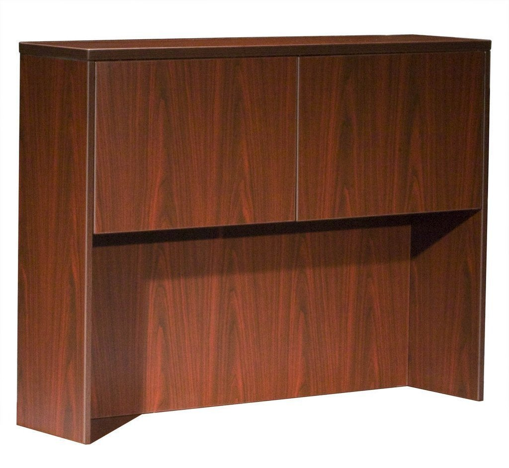 Boss Office Products N339-M Boss Hutch With 2 Doors, Mahogany 48*12*36 from Boss Office Products