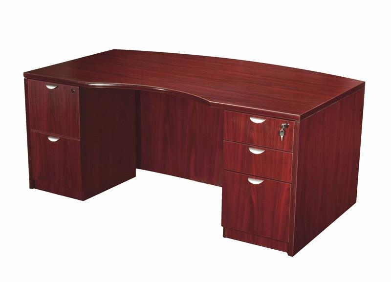 Boss Office Products N689-M Boss Light Bow Front Desk Shell from Boss Office Products