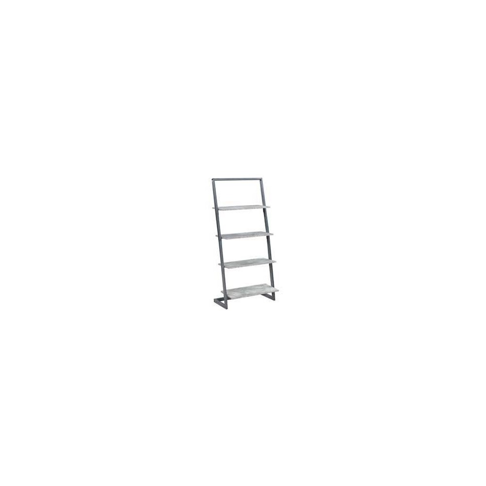 "57"" Graystone 4 Tier Ladder Bookcase/shelf Faux Birch/Slate Gray - Breighton Home from Breighton Home"