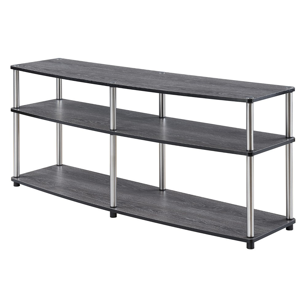 "60"" 3 Tier TV Stand Weathered Gray - Breighton Home from Breighton Home"