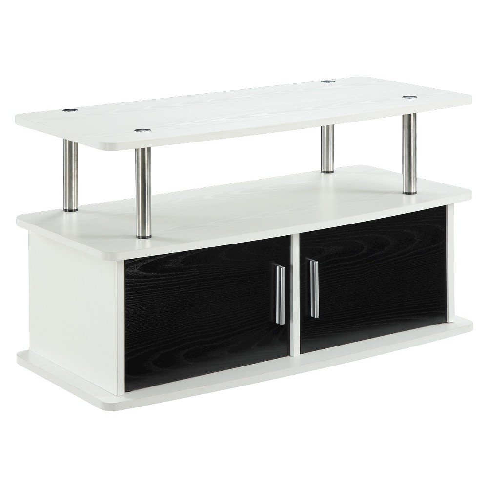 Deluxe 2 Door TV Stand with Cabinets White - Breighton Home from Breighton Home